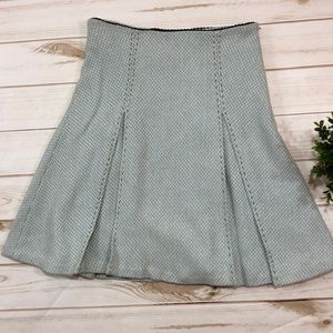 Anthropologie Odille pleated wool blend skirt